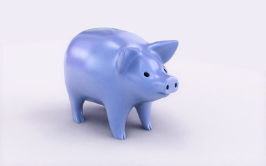 3d rendered Piggy bank isolated on white background