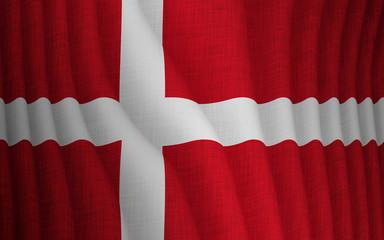 Illustration of a flying Danish flag