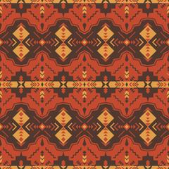 Ethnic seamless pattern with geometric ornament. Aztec, Navajo, Southwest  American, Indian, Boho print.