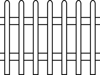 Picket Fence, Line Art, Seamless Pattern, Template