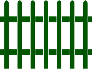Green Picket Fence, Template, Seamless Pattern