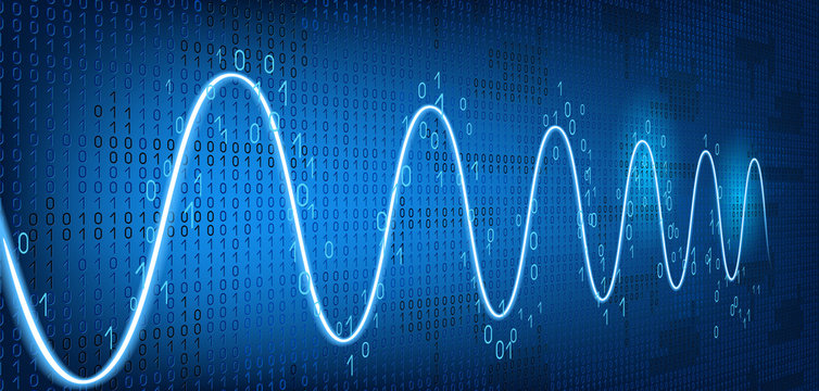 Graph harmonic damped oscillations  on binary code background