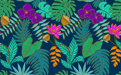 Night Jungle Vector tile