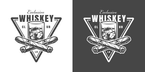 Vintage whisky club emblem