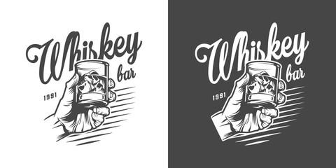 Monochrome whisky bar logotype Fototapete