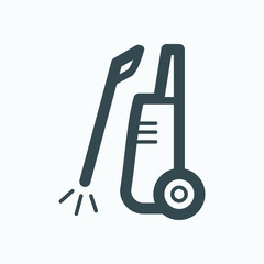 High pressure icon. High pressure washer power cleaner vector icon