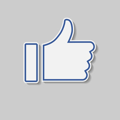 Thumbs Up like, social media icon button