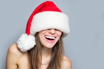 Beautiful and sexy santa woman
