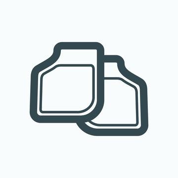 Car mat icon, car floor carpet vector icon