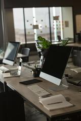 Desktop in office
