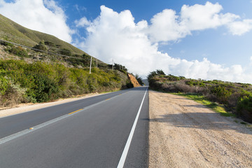 nature and landscape concept - view of road at big sur coast in california