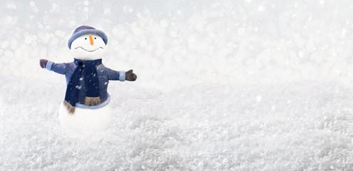 wintertime snowman
