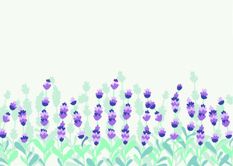 Lavender beautifull field background vector illutration