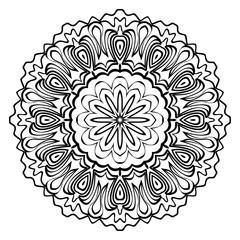 Modern Decorative Cicle Shapes. Floral mandala. vector illustration