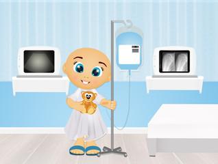 illustration of leukemia children