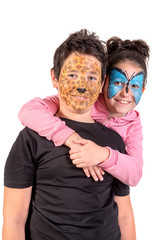 Kids with face-paint