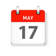 May 17 Calendar Date Design
