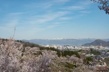 福島県 花見山からの眺め 福島市