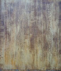 surface of the brown old damaged and weathered wood