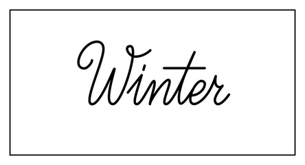 Winter vector logo design isolated on white background. Winter typography and lettering for winter time seasonal decor, text for banner, poster, card, header. Vector illustration. EPS10