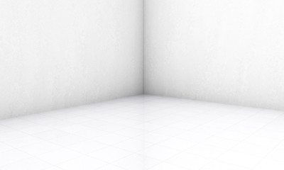 high definition empty white room 3d render