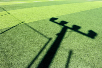 artificial grass floor with shadow texture in Chiang Mai Thailand
