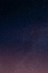 Purple Starry Night Sky
