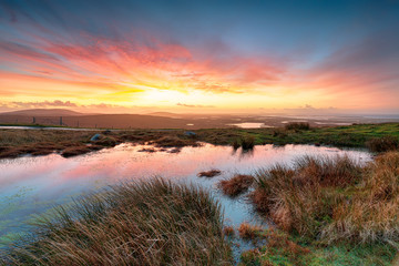 Wall Mural - Sunrise over the Western Isles