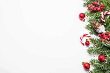 Christmas background on white.