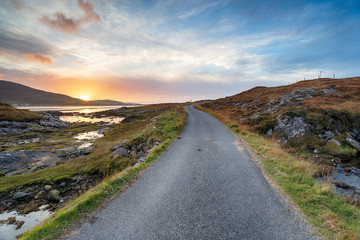 Wall Mural - Sunset over the Isle of Harris
