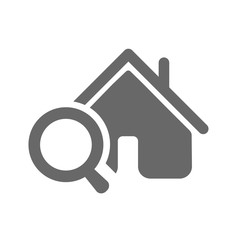 Home search icon, on white background.
