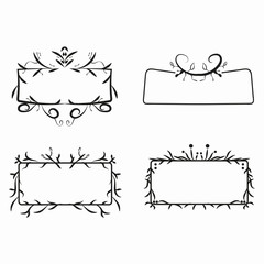 ornate line frame for decorate or banner vector eps10