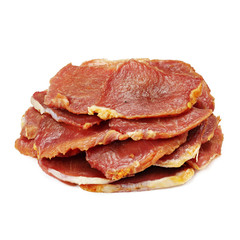 Dried meat, snack, on a white background