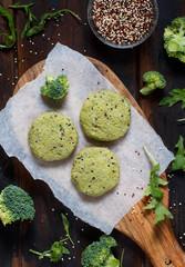 Vegetarian broccoli and quinoa burgers