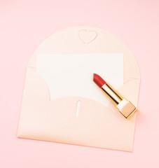 a red lipstick