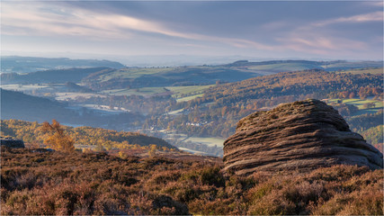 Early Morning In The Peak District Looking Towards Hathersage