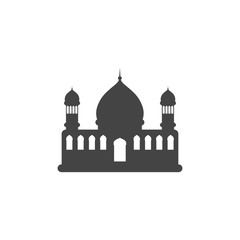 Mosque silhouette graphic design template vector