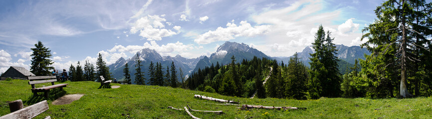 Foto op Canvas Alpen Bavarian mountain panorama
