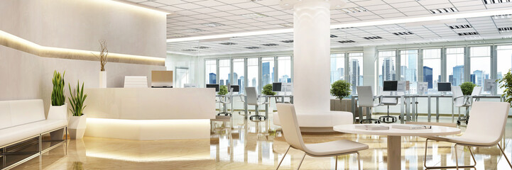Large office with a reception area Wall mural