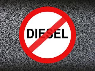 Diesel verbot Verkehrsschild