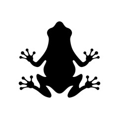 Frog icon, the logo on a white background