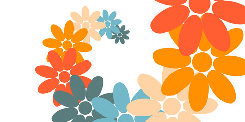 Creative Abstract Design, Vector Illustration from Random Colorful Flowers