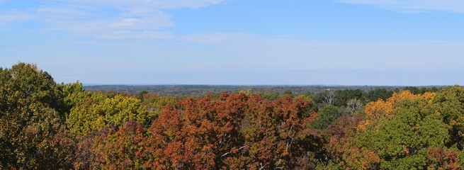 Panorama of the tree city of Oxford Mississippi from the University of Mississippi