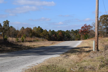 Fall along Old Oxford Road in Marshall County Mississippi