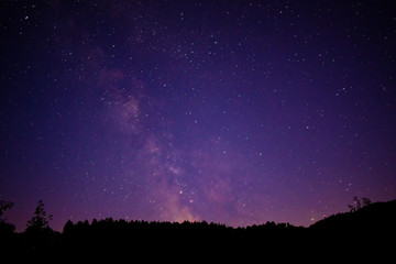 Astrophotography with a very amazing night sky and the milky way
