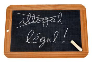 Illégal et légal