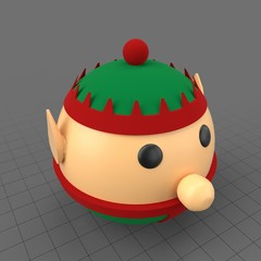 Round Christmas elf