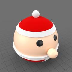 Round Santa Claus
