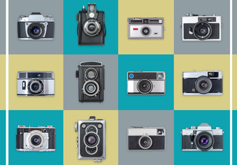 Retro Cameras Art Kit