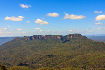 Blue Mountains view. Located at Echo Point Katoomba, New South Wales, Australia